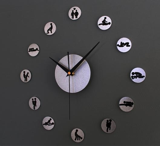 2014 Newest Diy Self Adhesive Wall Clock Sex And Funky Wall Clock Wall Stickers Silver Metal Finish Clock Panel Stickers Focussticker Iphone Aliexpress