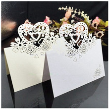 ФОТО 25pcs/lot love heart laser cut wedding party table name place cards favor decor wedding decoration 5 color 90*90mm