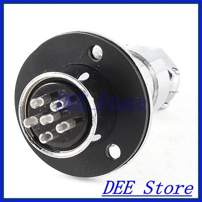 Flange Mounting Aviation Connector Plug Adapter 19mm Diameter GX20 6 Pin