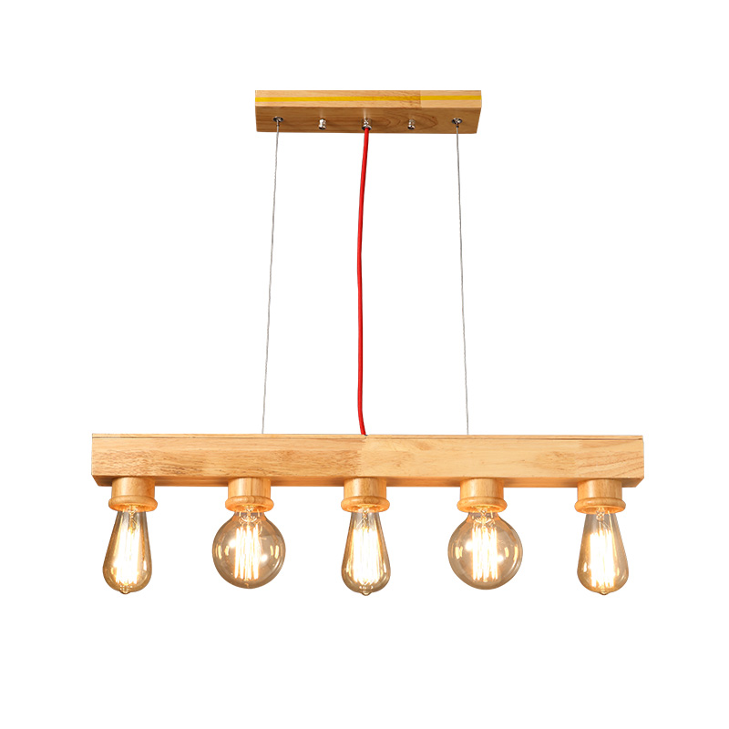 5 head wood chandelier creative personality restaurant bar cafe modern simple solid wood chandelier modern and simple aluminum chandelier creative personality restaurant bar clothing store chandelier free shipping