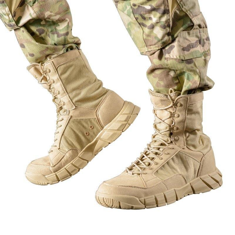 Homme extérieur Tube haut léger sport randonnée escalade bottes chaussures hommes désert Jungle Combat tactique respirant démarrage baskets