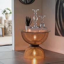 Modern Light Luxury Creative Wrought Iron Retro Old Golden Hourglass Night Light Coffee Small Round Table Designer стоимость