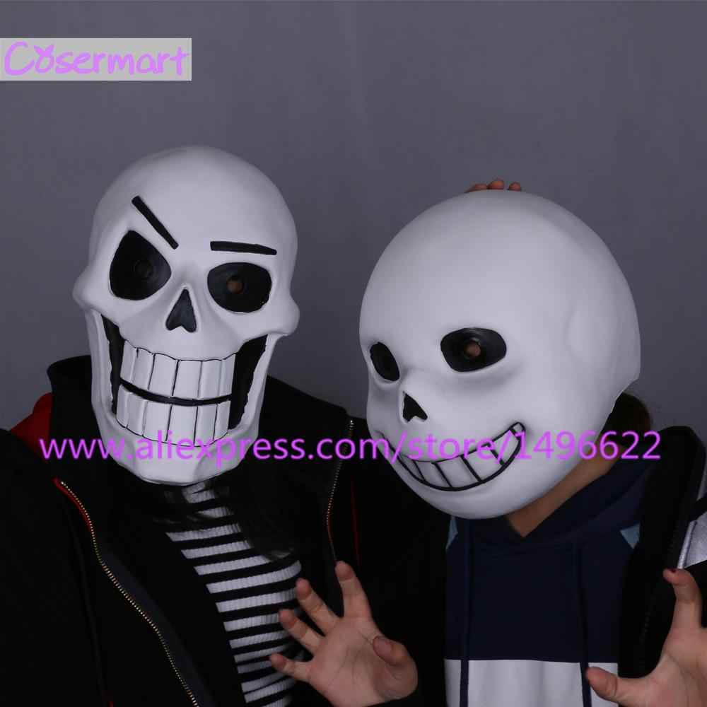 Hot Game Undertale Mask Hard Latex Cosplay Sans Papyrus helmet Full Head Masks Halloween Party Prop (9)