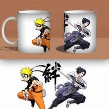 New Naruto Sasuke Becher Heißer Ändern Farbwechsel Tasse Wärme Reaktiven Keramik Tassen Milch Kaffee Geschenk