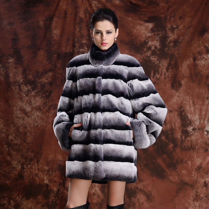 Aliexpress.com : Buy Top Quality New Real Fur Coat Striped
