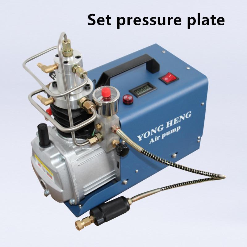 300BAR 30MPA 4500PSI compresseur d'air électrique Haute Pression pompe à air pour Pneumatique Pistolet À Air Comprimé Plongée Fusil PCP Gonfleur 220 v 110 v