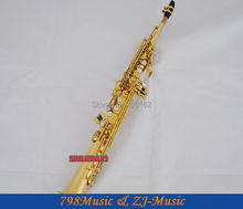 Gold Lacquer Straight Soprano saxophone Bb key to High F key and G Key