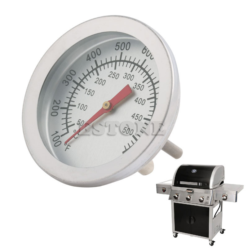 Thermometer Grill Smoker Bbq Gauge Barbecue Temperature Stainless Steel 10-400C