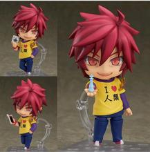цена на hot 10cm NO GAME NO LIFE Q version Anime Action Figure PVC New Collection figures toys Collection for Christmas gift
