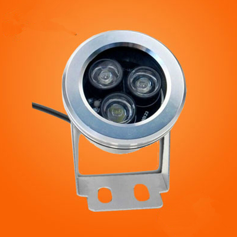 IP68 3*3W DC12V LED Underwater Light ,LED Pond Aquarium Piscian Light,LED Swimming Pool Landscape Light + Remote