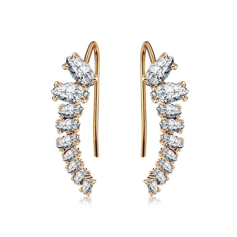 Hot new high quality S925 silver earrings heart-shaped zircon earrings for fashion women wear and lovers gift TYCE2