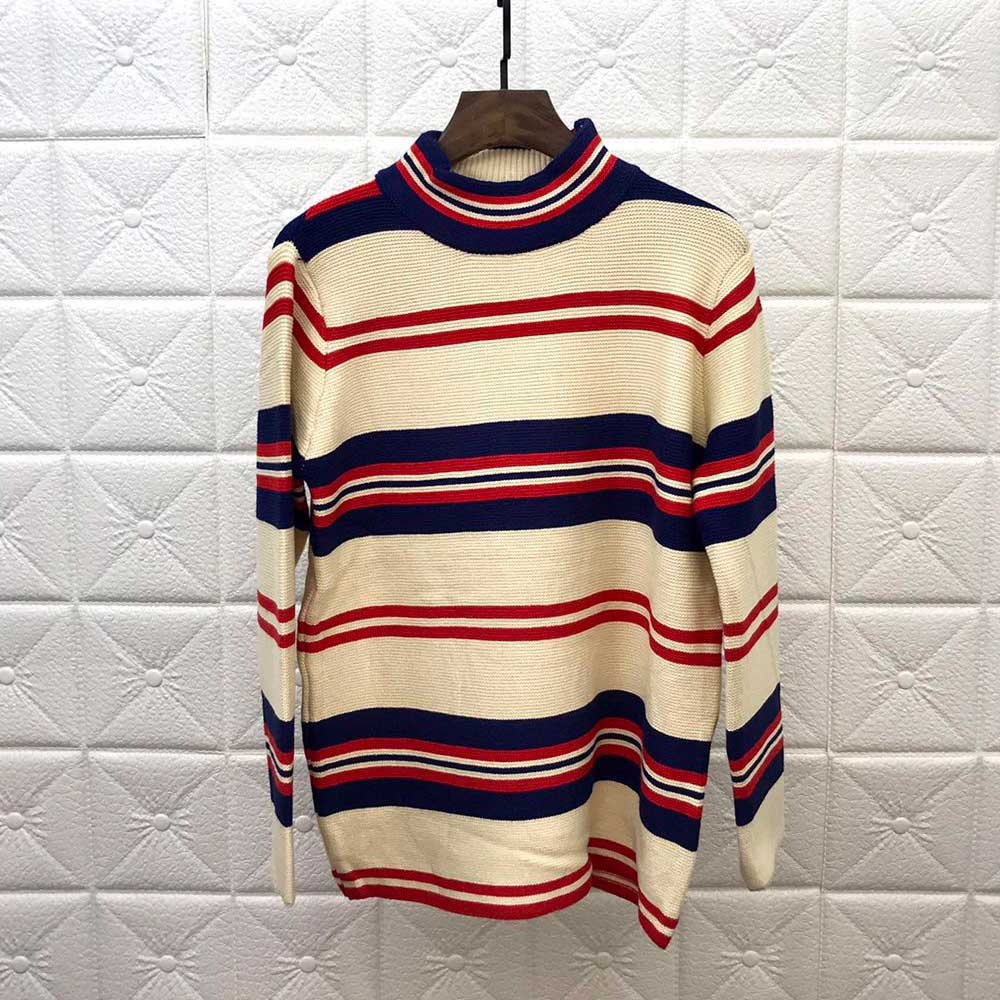 DUYOU New Designer Men New Autumn Winter Pullovers Men Brand-clothing Fashion Striped Knitted Sweater Male Top Quality