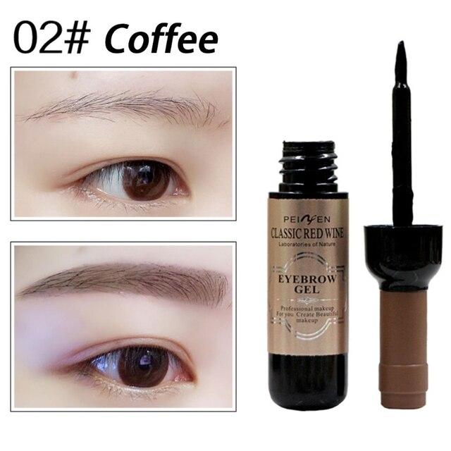 Browncoffeegray Eye Makeup Red Wine Eye Brow Tattoo Tint Long