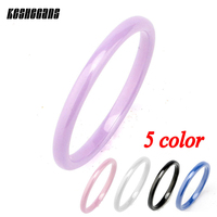 5pcs Set High Quality Simple Colorful Ceramic Ring Never Fade Healthy Material Prevent Allergy Women Fashion