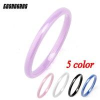 5 teile/satz Hohe Qualität Einfache Bunte Keramik Ring Nie Verblassen Gesunde Material Verhindern Allergie Frauen Modeschmuck Besten Geschenke