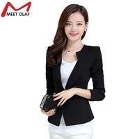 1 ADET Kadınlar Blazer Bahar Ince Üst Zarif Kısa Blazers Uzun Kollu Blaser Takım Kadın Takım Elbise OL Ofis Lady İş Elbiseleri Kaban YL026