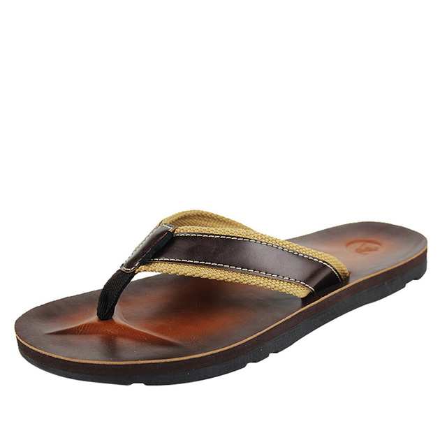 e334efecd6e6 Street Style Men Fashion Flip Flops Summer Beach Sandals Size 5.5-9.5  Indoor Outdoor Casual Man Anti-skid Slippers Free Shipping