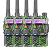 4PCS LOT Baofeng UV 5R Amateur Radio Portable Walkie Talkie UV5R 5W FM Radio 128CH UV