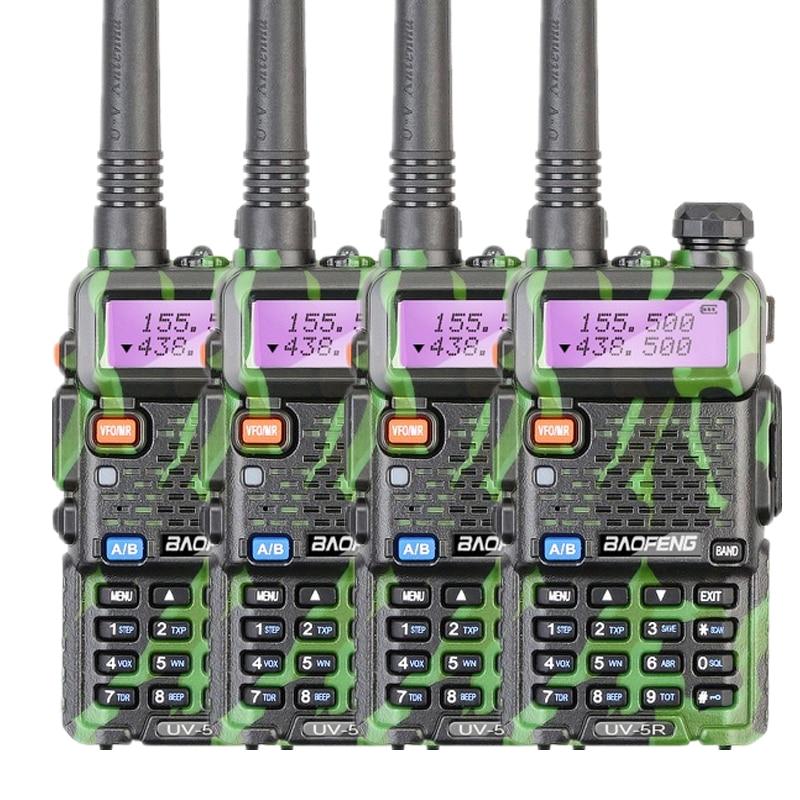 4PCS LOT Baofeng UV 5R Amateur Radio Portable Walkie Talkie UV5R 5W FM Radio 128CH UV