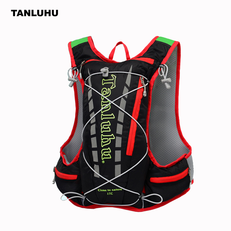 RBP02 15L Marathon Outdoor Sport Vest Trail Running Bag Hydration Backpack Climbing Running Backpack Hiking Cycling Rucksack