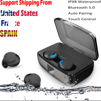 C3 TWS Wireless Bluetooth5.0 Earphones Headset IPX8 Waterproof Earbuds Cordless Swimming Headphone with Mic 3000mAh Charging Box