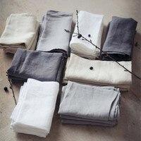 100% Linen Right angle Flat Sheet Luxurious Wash Flax Single & Double Sleep Sheet Hygroscopic Breathable Flat Sheet