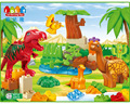 Free Shipping Jurassic Park Dinosaur Toys Block Mini Figure DIY Self-Locking Bricks Learnning Education For Kids Christmas Gift
