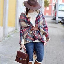 Scarf Wrap Shawl Plaid Cozy Checked Women Lady Blanket Oversized font b Tartan b font