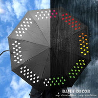 New England Style Fashion Color Changing Chang Umbrella Special Magic Gift Umbrella For Boy Girl