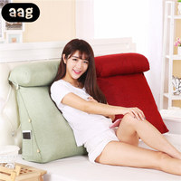 AAG Bed Triangular Backrest Cushion Sofa Cushions For Bed Rest Pillow Back Support Large Size Lounger Reading Maternity Pillow