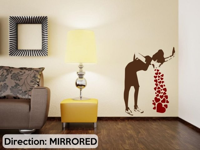 Banksy Graffiti Love Sick Iconic Wall StickerWall Decal Stickers Home Decor For Living Room Many Colours In From