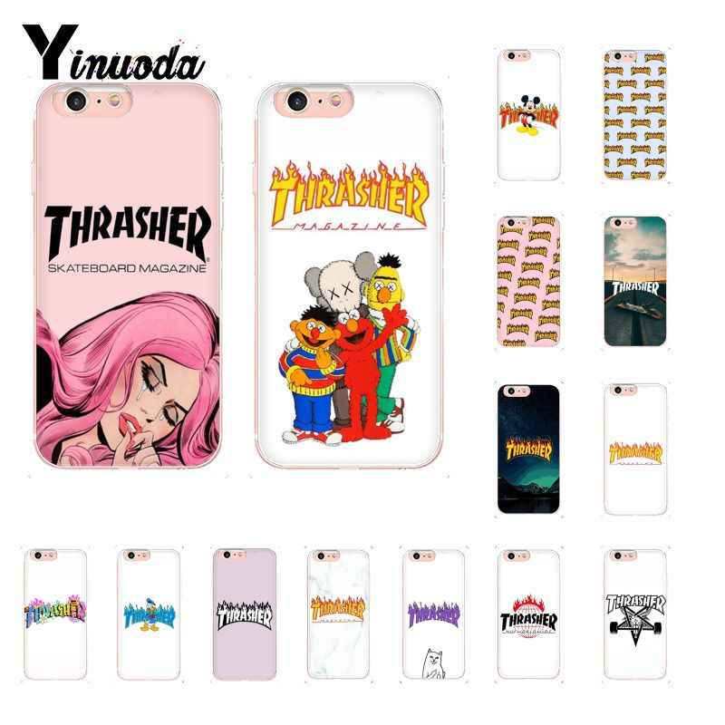 Yinuoda skateboard thrash fashion Soft Shell Phone Cover for iPhone 6S 6plus 7 7plus 8 8Plus X Xs MAX 5 5S XR 10