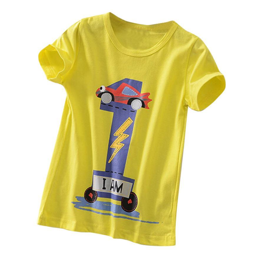 Toddler Kids Summer top Baby Boys Girls Clothes Short Sleeve Cartoon Tops T-Shirt Blous Drop Shopping 15