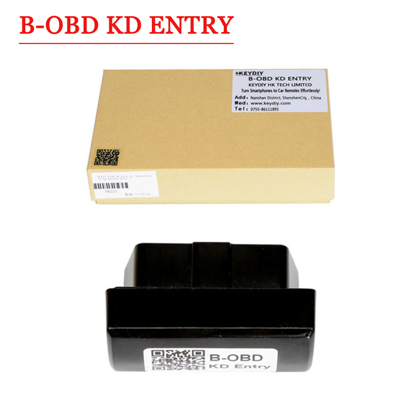 Free shipping original Keydiy B-OBD KD Entry  for Smartphones to Car Remotes Entry Best Choice For Smart Phone Key 2017 hot seling obd ii automotive computer memory saver free shipping best price now