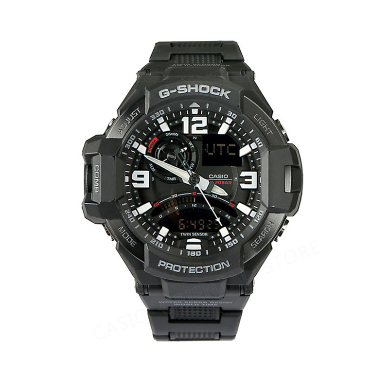 Casio G-shock Watch MenDual Display Wristwatches Calendar Display Men's Watches Bracelet Watch Gift Box GA-1000FC-1A casio watch g shock mini gmn 691g 1jr