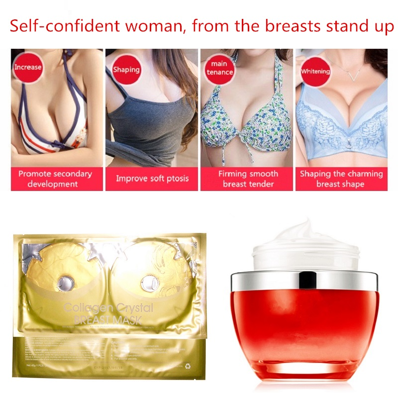 Breast Enlargers Bust Augmentation font b Cream b font 30 Piece Gold Collagen Pleura Set Butt