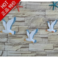 3PCS /Set Mediterranean Home Decoration Accessories Seagull Birds Resin Seabirds Marine furnishings Wall hanging Decorative