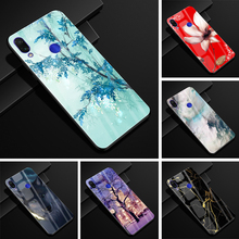 hot deal buy 6.3'' for xiaomi redmi note 7 case glass back hard case for xiaomi redmi note 7 case cover redmi note7 note 7 pro soft frame
