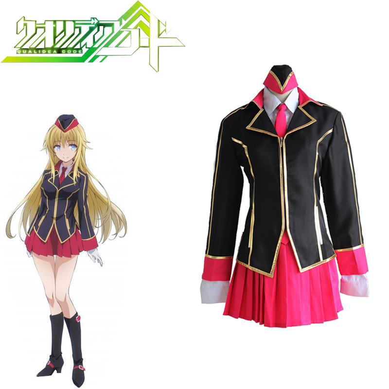 Qualidea Code Anime Canaria Utara Cosplay Women Japanese Cosplay Adults Uniform Suit  Full Set Costumes For Halloween Party