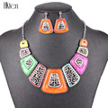 MS20485 Fashion Jewelry Set Silver Plated Multicolor/Red/Green Resin Unique Design Party Gift High Quality Free Shipping