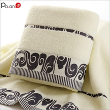 P 100% Cotton Bath Towel Embroidered Quick-Dry Shower Towels Bathroom Jacquard  Beach Spa Face Hand Luxury