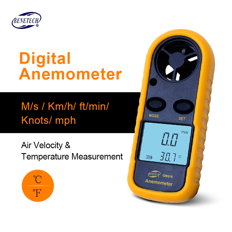 BENETECH GM816 Digital LCD CFM/CMM Thermo Anemometer + Infrared Thermometer For Wind Speed Gauge Meter Temperature free shipping gm8901 45m s 88mph lcd digital hand held wind speed gauge meter measure anemometer thermometer