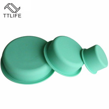 TTLIFE 3 stücke Silikon Runde Form Pan Backform Drei Größen kuchen Pan Mold Silikon Kuchen Schokolade Tablett Backform Backenwerkzeuge
