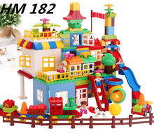 NEW HM182 210 PCS Big Building Blocks Children s Playground Blocks Toys Educational Toys for Children