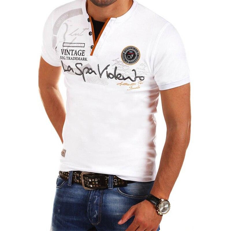 657e3ca8190745d ZOGAA 2019 новые мужские с коротким рукавом рубашки поло хлопок Печатный  тёплые рубашки поло размер S