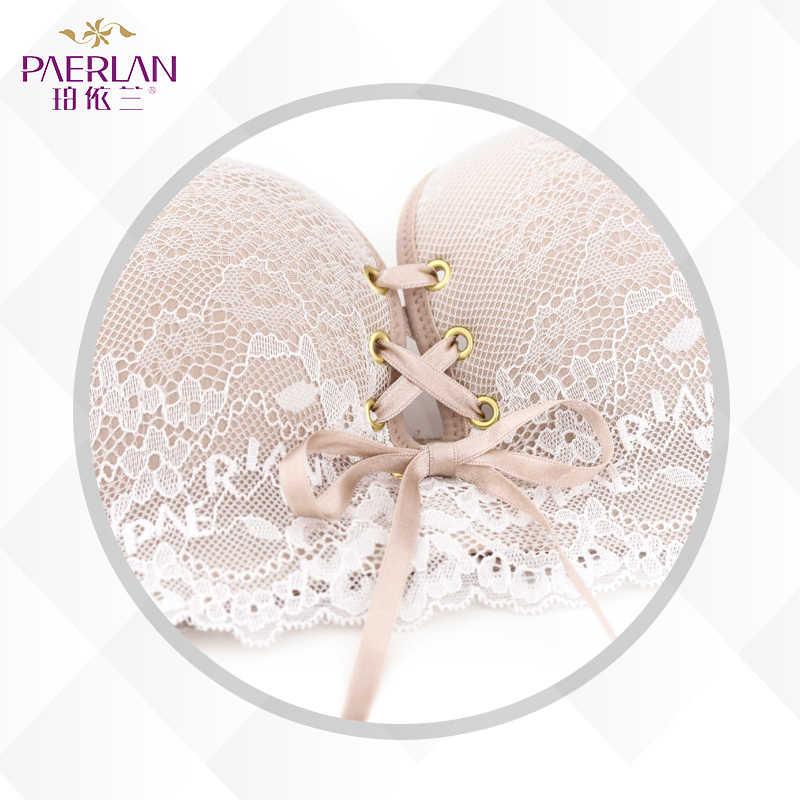 PAERLAN беспроводной бесшовный кружевной платье лиф 1/2 половина чашки небольшой нагрудный ремень B женское нижнее белье