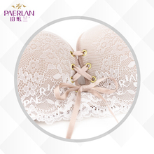 PAERLAN Wire Free Seamless lace bra dress 1/2 half a cup of small chest strap B women underwear