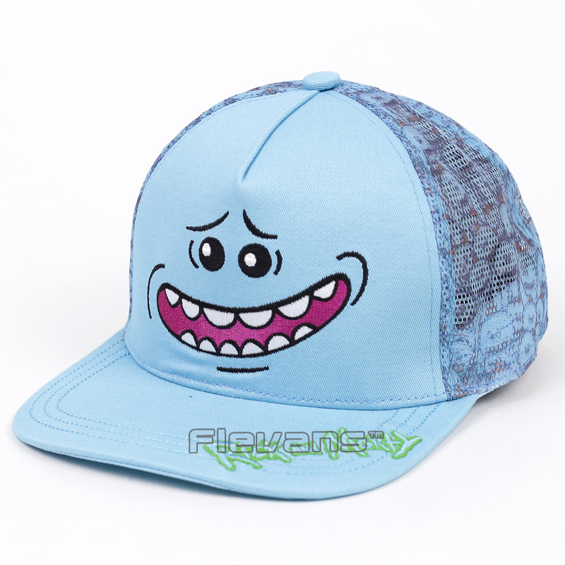 Fashion Summer Rick and Morty Baseball Cap Hat For Men Women Mr. Meeseeks Casual Bone Hip Hop Snapback Caps Hats mnkncl new fashion style neymar cap brasil baseball cap hip hop cap snapback adjustable hat hip hop hats men women caps