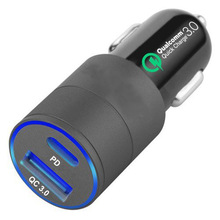 36W fast PD3.0 2 USB Ports Universal Intelligent Charging Dual Car Charger For iPhone Samsung Mobile Android Phone
