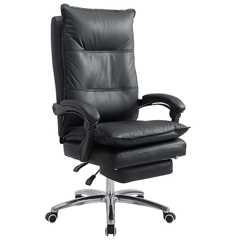 Computer Chair Home Full Grain Leather Office Chair Swivel Lifting Gaming Chair Massage Function Silla Oficina Cadeira Gamer